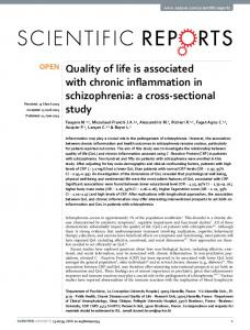 Quality of life is associated with chronic
