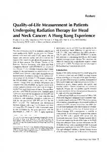 Quality-of-Life Measurement in Patients - DRO