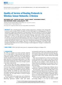 Quality of Service of Routing Protocols in Wireless ... - IEEE Xplore