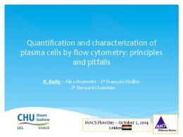 Quantification and characterization of plasma cells by ...