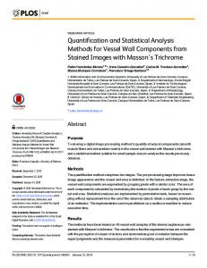 Quantification and Statistical Analysis Methods for ... - Semantic Scholar