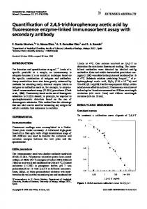 Quantification of 2,4,5trichlorophenoxy acetic acid by ...