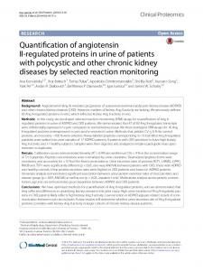 Quantification of angiotensin II-regulated proteins in urine of ... - TSpace
