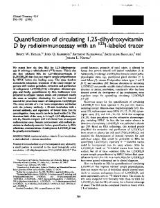 Quantification of circulating I,25-dihydroxyvitamin ... - Clinical Chemistry