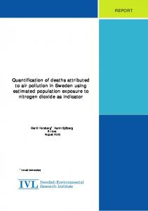 Quantification of deaths attributed to air pollution in Sweden using ...