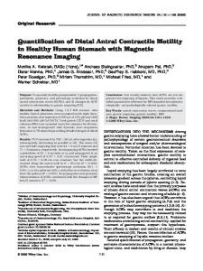 Quantification of distal antral contractile motility ... - Wiley Online Library