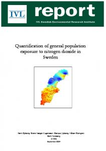 Quantification of general population exposure to nitrogen dioxide in ...