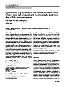 Quantification of glucuronidated and sulfated steroids in human ... - Core