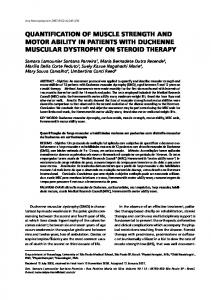 quantification of muscle strength and motor ability