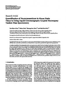 Quantification of Neurotransmitters in Mouse Brain Tissue by Using