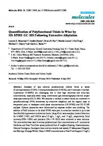 Quantification of Polyfunctional Thiols in Wine by HS-SPME-GC-MS ...