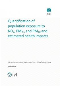 Quantification of population exposure to NO2, PM2.5 and PM10 and ...