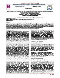 quantification of primary and secondary metabolites from leaves and ...