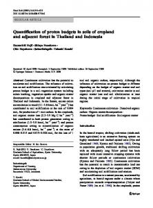 Quantification of proton budgets in soils of cropland ... - Springer Link
