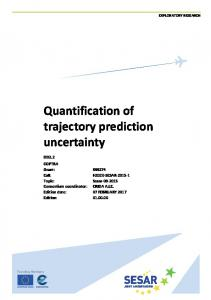 Quantification of trajectory prediction uncertainty