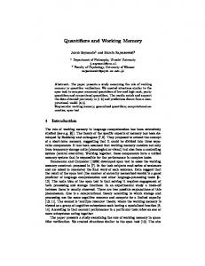 Quantifiers and Working Memory
