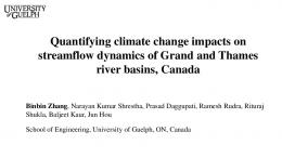 Quantifying climate change impacts on streamflow ...
