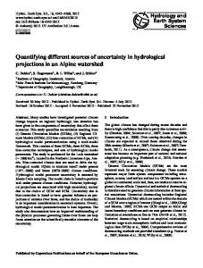Quantifying different sources of uncertainty in hydrological projections ...