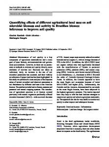 Quantifying effects of different agricultural land uses on soil ... - Ainfo
