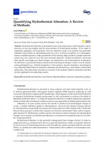 Quantifying Hydrothermal Alteration - MDPI
