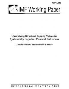Quantifying Structural Subsidy Values for Systemically Important ... - IMF