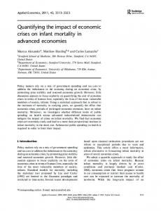 Quantifying the impact of economic crises on infant mortality in ...