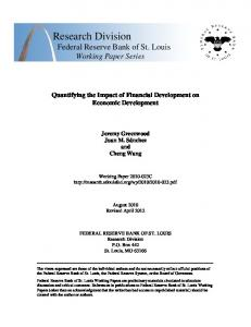 Quantifying the Impact of Financial Development