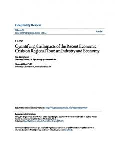 Quantifying the Impacts of the Recent Economic Crisis on Regional ...