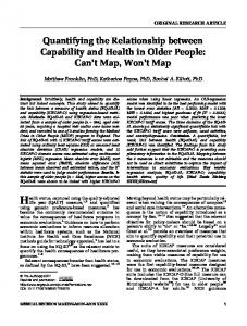 Quantifying the Relationship between Capability ... - Semantic Scholar