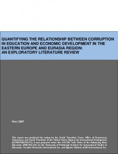 quantifying the relationship between corruption in education ... - USAID