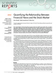 Quantifying the Relationship Between Financial News ...