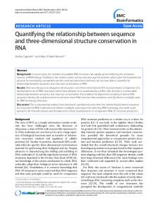 Quantifying the relationship between sequence and ... - ScienceOpen