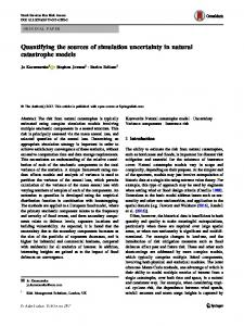 Quantifying the sources of simulation uncertainty in natural ... - Core