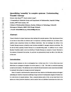 Quantifying'causality'in complex systems: Understanding Transfer ...