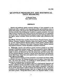 quantile probability and statistical data modeling - CiteSeerX