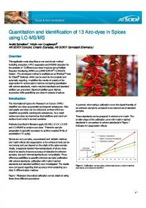 Quantitation and Identification of 13 Azo-dyes in Spices using ... - Sciex