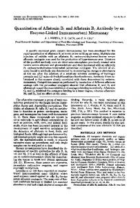 Quantitation of Aflatoxin B1 and Aflatoxin B1 Antibody by an Enzyme ...