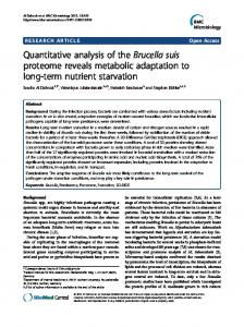 Quantitative analysis of the Brucella suis proteome ... - BioMedSearch