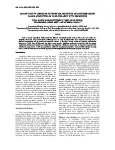 quantitative changes in proteins, pigments and