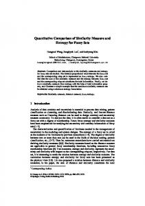 Quantitative Comparison of Similarity Measure and Entropy for Fuzzy ...