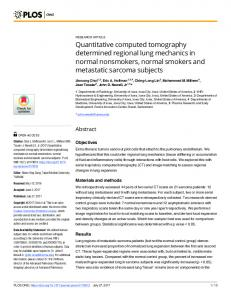 Quantitative computed tomography determined regional lung ...