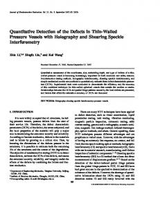 Quantitative Detection of the Defects in Thin-Walled Pressure Vessels ...