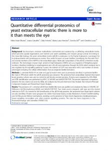 Quantitative differential proteomics of yeast extracellular ... - CiteSeerX