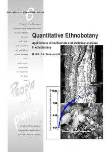 Quantitative ethnobotany: applications of multivariate and statistical ...