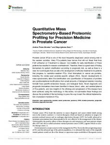 Quantitative Mass Spectrometry-Based Proteomic