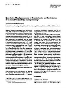 Quantitative Mass Spectrometry of Decarburisation and ... - Springer Link