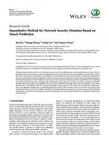 Quantitative Method for Network Security Situation Based on Attack
