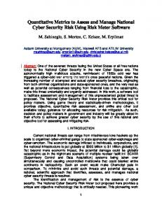 Quantitative Metrics to Assess and Manage National Cyber Security ...