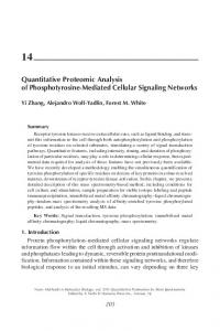 Quantitative Proteomic Analysis of
