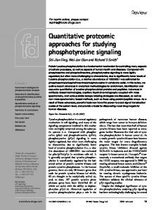 Quantitative proteomic approaches for studying phosphotyrosine ...